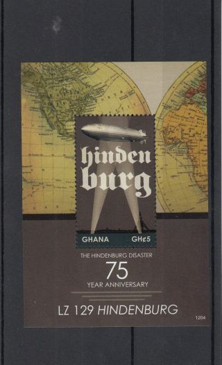 Ghana 2012 Hindenburg Disaster 75th Anniv 1v Sheet Lz129 Zeppelin photo