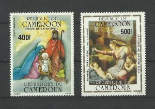 1109.  Rep.  Cameroun 1985 Christmas Mich.  Num.  1106/1107 photo