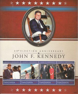 Tanzania 2010 50th Election Anniv John F Kennedy 4v Sht I Jfk Us President photo