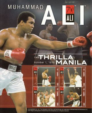 Gambia 2012 Muhammad Ali 4v Sheetlet Ii Thrilla In Manila Boxing Sports photo