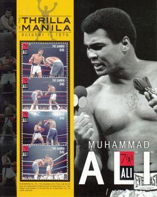 Gambia 2012 Muhammad Ali 4v Sheetlet Thrilla In Manila Boxing Sports photo