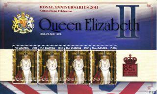 Gambia 2011 Royal Anniversaries Queen Elizabeth 85th Birthday 1v Sheet photo