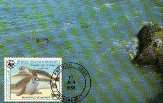(70517) Maxicard - Mauritania - Seal - 1986 photo