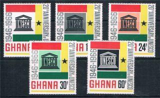 Ghana 1966/7 Unesco Sg 435/9 photo