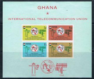 Ghana 1965 I.  T.  U.  Sg Ms 372a photo