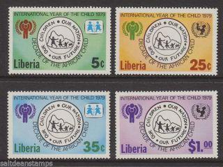 Liberia - 1979 International Year Of The Child (4v) Umm / photo