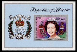 Liberia C218 Queen Elizabeth Silver Jubilee photo