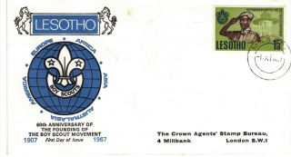 Lesotho 1967 Scout Stamp First Day Cover Ref:cw390 photo