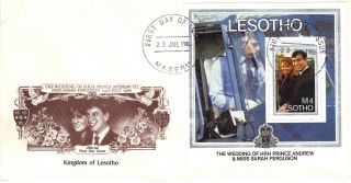 Lesotho 1986 Royal Wedding Mini Sheet First Day Cover Ref:cw393 photo