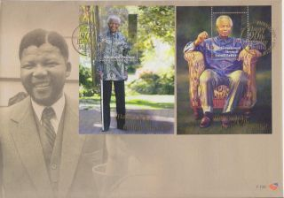South Africa - Nelson Mandela 90 Th Birthday Fdc 7.  130 - 18 July 2008 photo