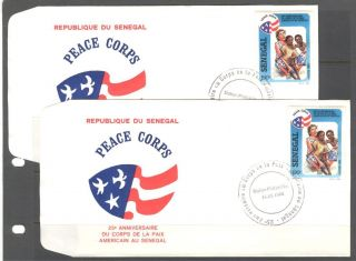 Us Peace Corps Anniversary On Senegal 1988 Sc 779 Fdc photo