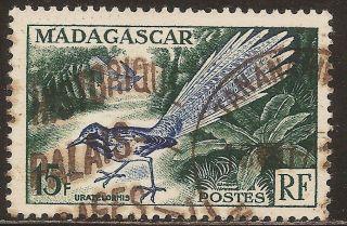 1954 Madagascar,  Malagasy: Scott 289 - Bird (15 F - Uratelomis Chimaera) - photo