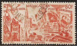 1946 Madagascar,  Malagasy: Scott C50 - Air Mail (50fr - Chad To Rhine) - photo