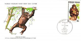 World Wildlife Fund First Day Cover - Togo - The Chimpanzee - Issue No 54 photo