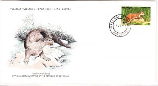 World Wildlife Fund First Day Cover - The Clawless Otter - 1977 - Issue No 50 photo