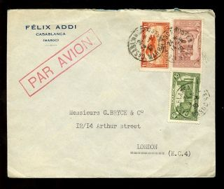 Morocco 1930 Mixed Franking. . .  Felix Addi Envelope photo