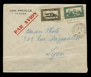 Tangier Morocco 1939 + 1953 Airmail + Registered. . .  Modiano + Ancelle Envelopes photo