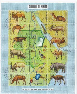 Burundi 336 Nh Cto Sheet Of 18 photo