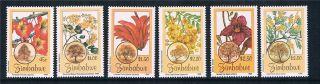 Zimbabwe 1996 Flowering Trees Sg 918/23 photo