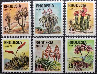 Rhodesia 1975 - Rhodesian Aloes - Singles - photo