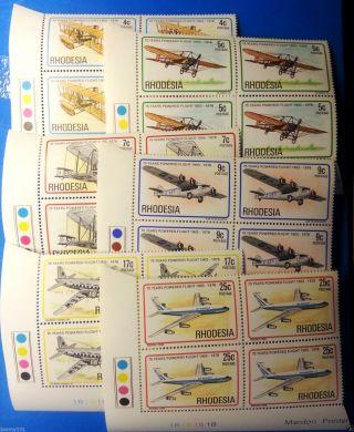 Rhodesia 1978 - Airplanes 75th Anniv Of Powered Flight,  1b Controls, photo