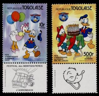 Togo 1234,  7 + Label Disney,  Donald Duck 50th photo