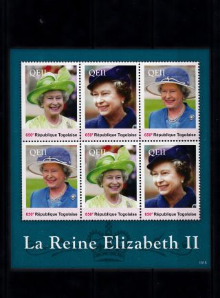 Togo 2013 Reign Elizabeth Ii 6v Sheetlet Queen Royalty La Reine Togolaise photo