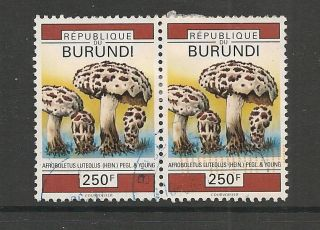 Burundi 1992 Fungi 250f Horizontal Pair Sg 1536 photo