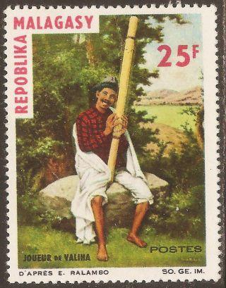 1965 Madagascar,  Malagasy: Scott 365 - Musical Instruments (25 Fr) - photo