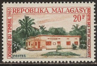 1965 Madagascar,  Malagasy: Scott 366 - Ptt Receiving Station (20 Fr) - photo