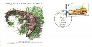 World Wildlife Fund First Day Cover - Togo - The Crocodile - Issue No 52 photo