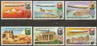 1976 Madagascar,  Malagasy: Scott 545 - 548,  C158 - 159 (6) (zeppelins) - photo