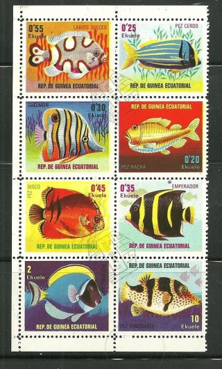 Equatorial Guinea Cto Block Fish photo