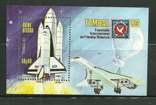 Guinea - Bissau 464 S/s Space Shuttle,  Sst photo
