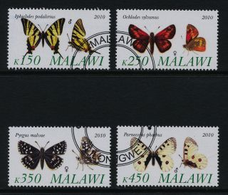 Malawi S/s ' S (cto) 2010 From S/s Butterflies photo