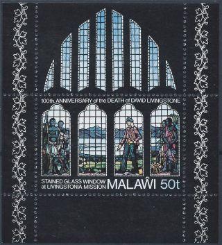 Malawi 1973 Sg Ms451 Death Cent Of David Livingstone Mini Sheet A 013 photo