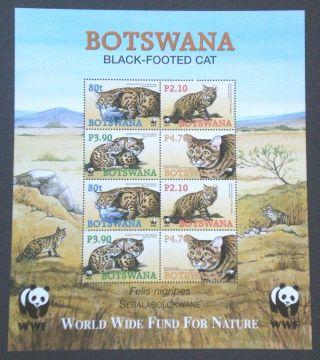 Botswana 2005 Wildlife Wwf Black Footed Cat Sheetlet photo