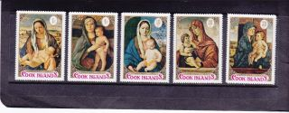 Cook Islands 1971 Bellini ' S Madonna & Child Christmas Issue Never Hinged Vf photo