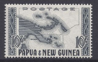 1952 - 1958 Papua Guinea 10/ - Map Sg14 Fine Our Ref Mr7 photo