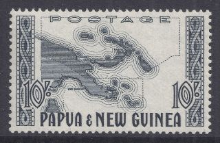 1952 - 1958 Papua Guinea 10/ - Map Sg14 Mlh Our Ref Mr8 photo