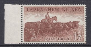 1958 - 1960 Papua Guinea 1/7d Cattle Hinged Our Ref B5 photo