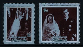 Aitutaki 51 - 2 Royalty,  Queen Elizabeth Silver Wedding photo
