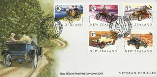 Nz Fdc Issued 3 Sept 2003 Veteran Vehicles photo