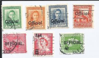Zealand 7 Early 1900s Issues With Offical Overprints photo