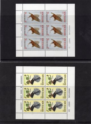 Zealand 1965 Health Birds Miniature Sheet Pair,  Um.  Sg Ms832c.  Cat.  £38. photo