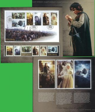 Zealand Stamp,  2003 Newz0316p Lord Of The Ring Iii Presentation Pack,  Movie photo
