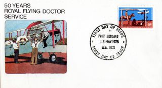 Australia 15 May 1978 50 Years Royal Flying Doctor Service First Day Cover Cds photo