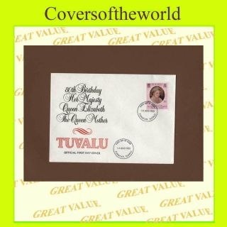 Tuvalu 1980 Queen Mother Official First Day Cover photo