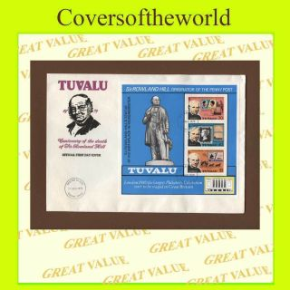 Tuvalu 1979 Rowland Hill Miniature Sheet First Day Cover photo