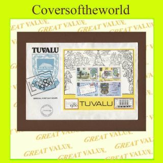 Tuvalu 1980 London 1980 Exhibition Miniature Sheet First Day Cover photo